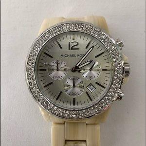 Michael Kors Madison Chronograph Glitz Resin Watch